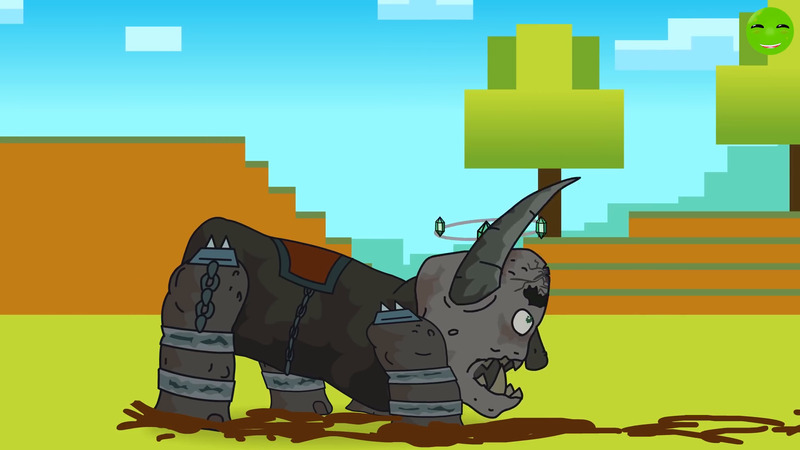 Harm against the Iron Monster - Cartoons about tanks Minecraft