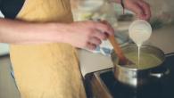 Овощной крем-суп с креветками